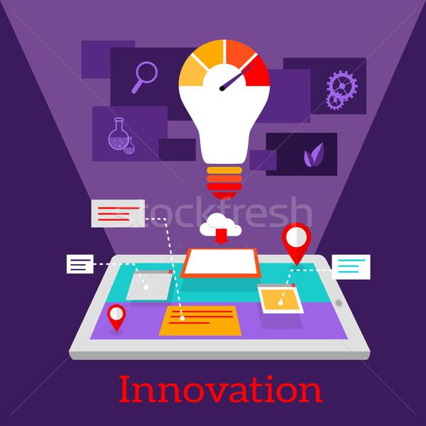 Innovación digital diseno creativa idea tecnología Foto stock © robuart
