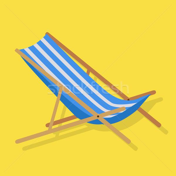 Summer Beach Sunbed Lounger Stock photo © robuart