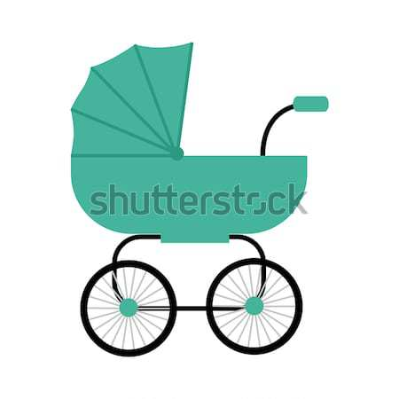 Classic Baby Carriage Vector in Flat Design. Stock photo © robuart
