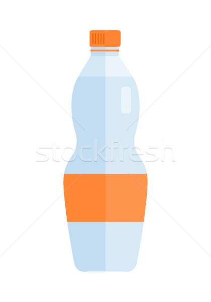 üveg műanyag üveg víz ital vektor Stock fotó © robuart