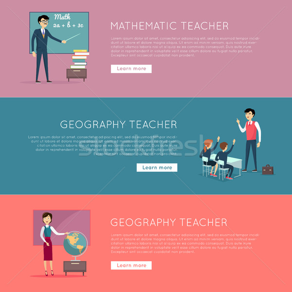 Stock photo: Set of School Education Banners