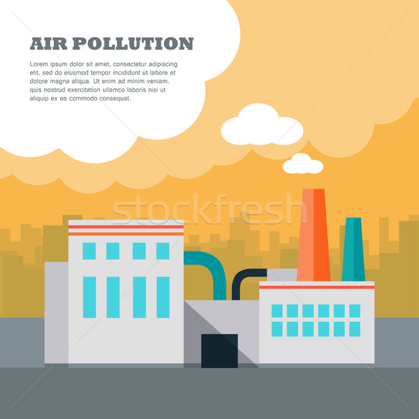Air Pollution Concept Stock photo © robuart