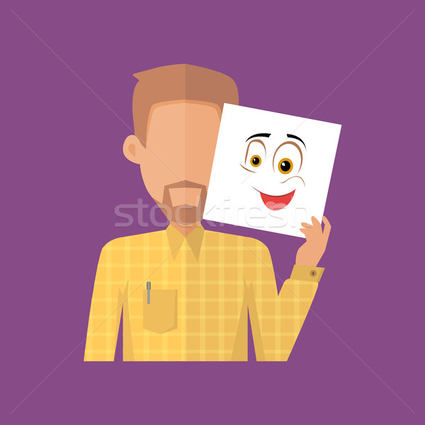Man Character Avatar Vector in Flat Design. Stock photo © robuart