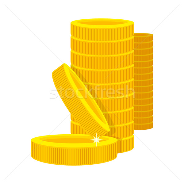Golden Coins in a Stack in Cartoon Style. Stock photo © robuart