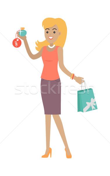 Kobieta perfum zniżka cena zapach duży Zdjęcia stock © robuart