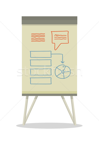 Whiteboard with Infographics. Stock photo © robuart
