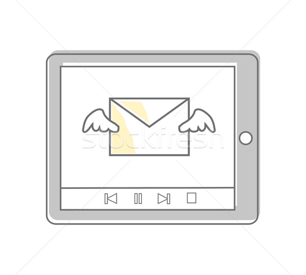 E-Mail Video Marketing Produkte Dienstleistungen Business Stock foto © robuart