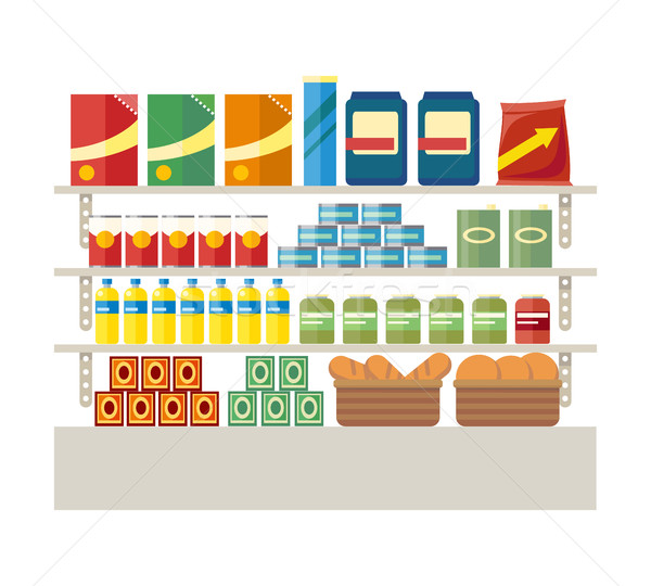 Supermarkets and Grocery Stores. Retail Shop Stock photo © robuart