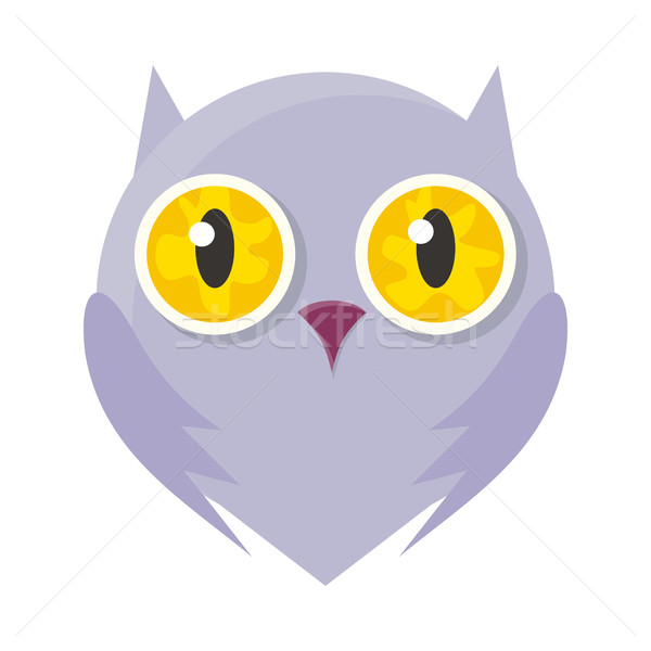Owl Mask Isolated on White. Sticker for Toddler. Stock photo © robuart