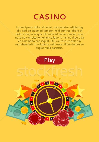 Roulette Wheel, Coin Dice Money Chip Star Isolated Stock photo © robuart