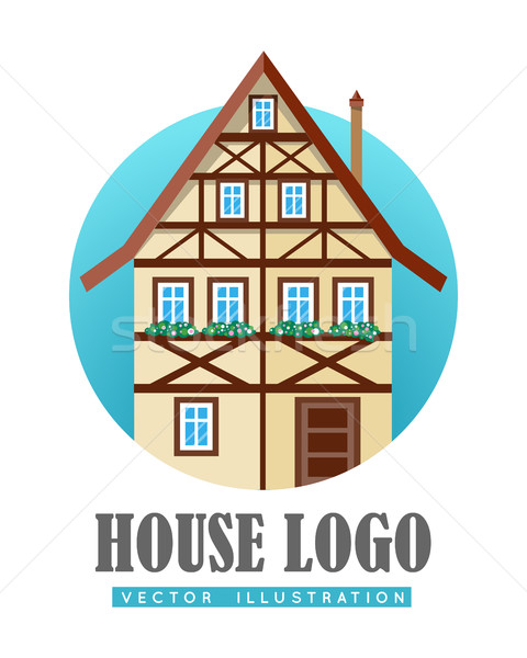 House Logo Flat Design Vector Illustration Stock photo © robuart
