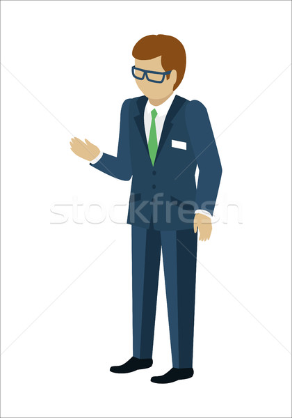 Man Character Vector In Isometric Projection. Stock photo © robuart