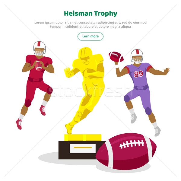 Heisman Trophy and American Football Players Stock photo © robuart