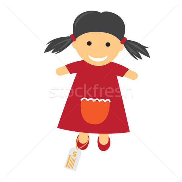 Toy with Price Icon. Illustration of Doll in Dress. Stock photo © robuart