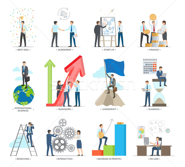 Successful Business Making Concept Vector Poster Stock photo © robuart