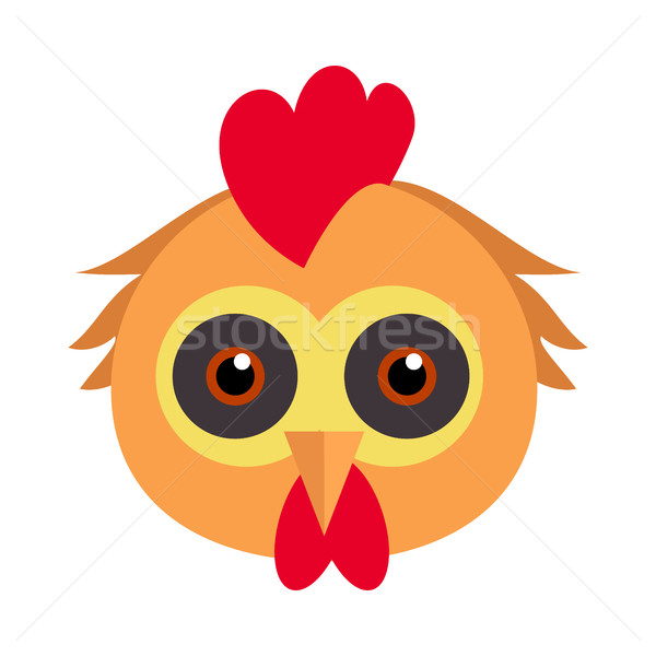 Cock Bird Carnival Mask. Rooster Chicken Hen Fowl. Stock photo © robuart