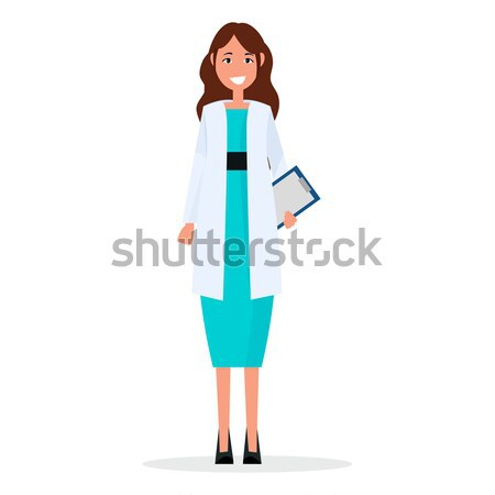 Woman Doctor with Prescription List Isolated Stock photo © robuart