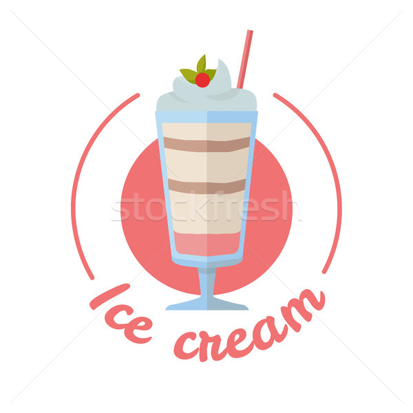 Vector Sweet Frozen Ice Cream Stock photo © robuart