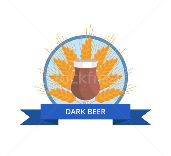 Dark Beer Tulip Vector Illustration on White. Stock photo © robuart