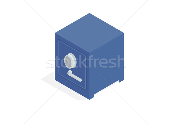 Massive Metal Bank Safe Isometric Vector Icon Stock photo © robuart