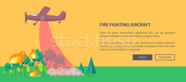 Anunciante avión fuera incendios forestales púrpura ardor Foto stock © robuart