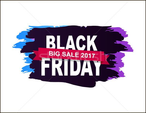 Black Friday Big Sale 2017 Vector Illustration Stock photo © robuart