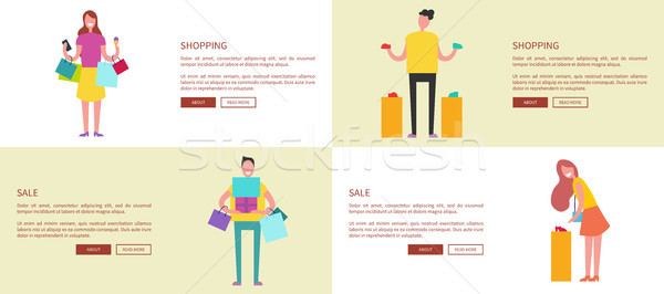 Designed Pages of Shopping Vector Illustration Stock photo © robuart