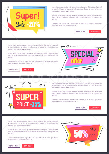 Super Sale -20 off, Special Offer Banners Sticker Stock photo © robuart