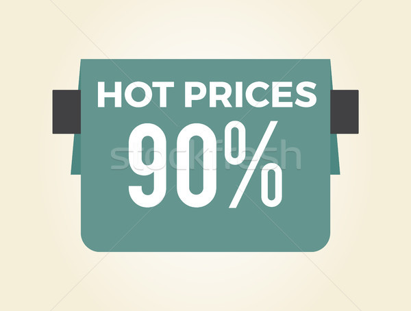 Hot Prices 90 Sale Clearance Vector Illustration Stock photo © robuart