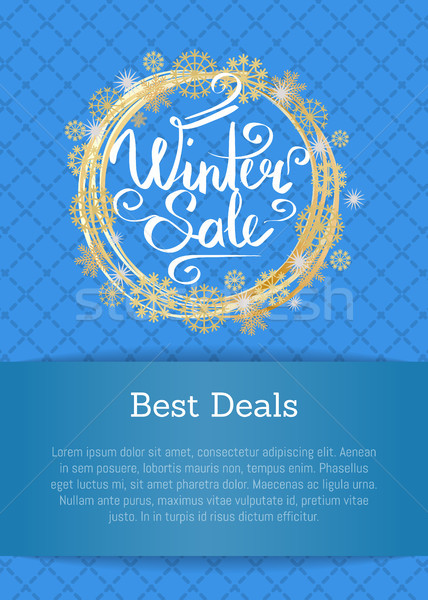 Winter Sale Poster Best Deals Text in Decor Frame Stock photo © robuart
