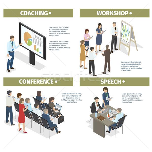 コーチング ワークショップ 会議 音声 セット 新しい ストックフォト © robuart