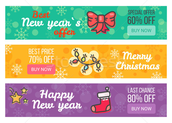 Set of Sale Cards Buy Now Special Offer Best Price Stock photo © robuart
