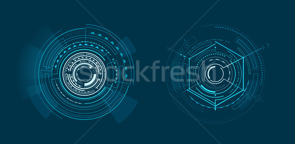 Two Templates of Bright Interface Geometric Banner Stock photo © robuart