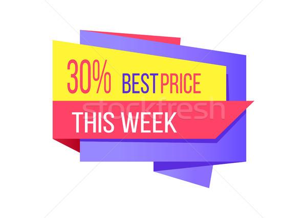 30 százalék legjobb ár hét promóció kártya Stock fotó © robuart