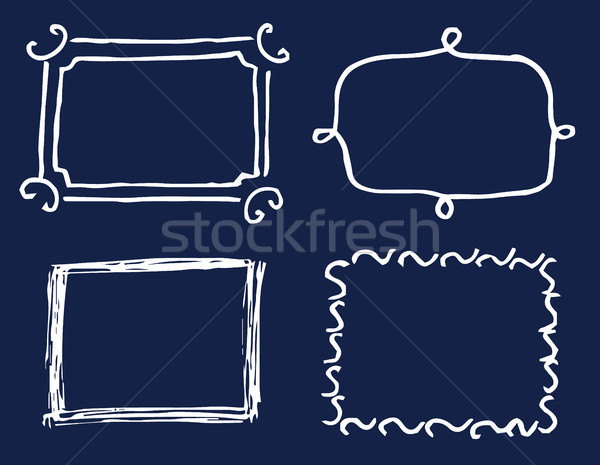 Four White Template Cards Vector Illustration Stock photo © robuart