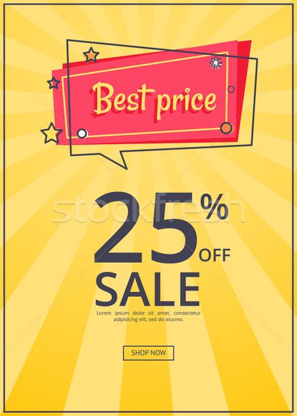 Best Price Proposition zbanner with 25 Discount Stock photo © robuart