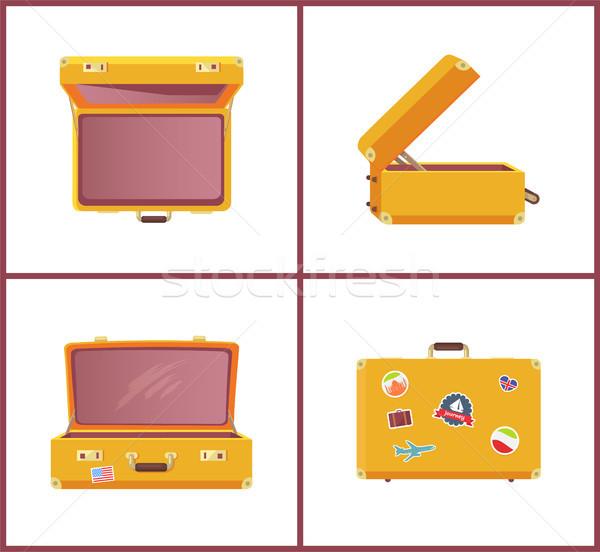 スーツケース ステッカー 旅 コレクション ポスター ストックフォト © robuart