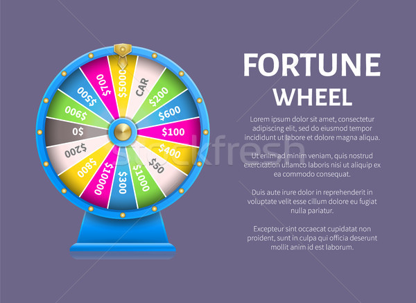 Fortune Wheel Poster, Place for Text Full Length Stock photo © robuart