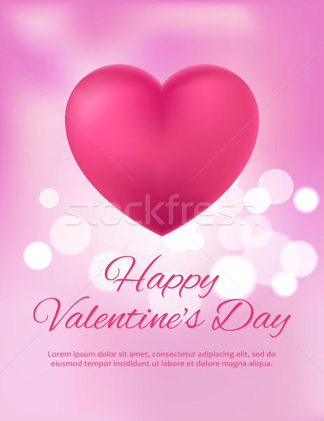 Mutlu valentine gün kartpostal parlak renkli Stok fotoğraf © robuart