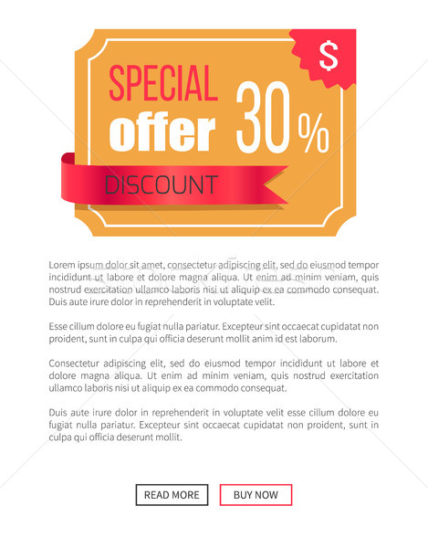 Special Offer Best Price Discount Label on Poster Stock photo © robuart