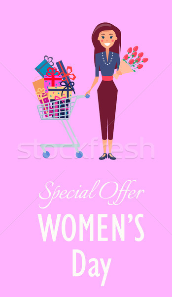 Special Offer for Womens Day Promotion Placard Stock photo © robuart