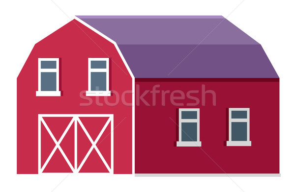 Rural Farm or Ranch Barn or Stable Flat Vector Stock photo © robuart