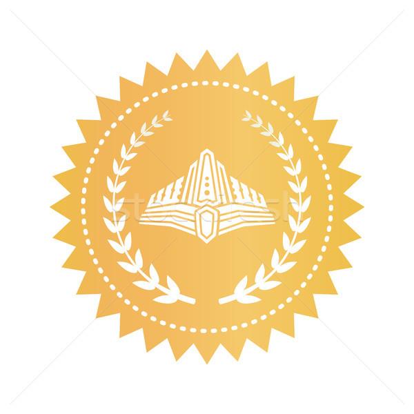 Medieval laurel oro sello real Foto stock © robuart