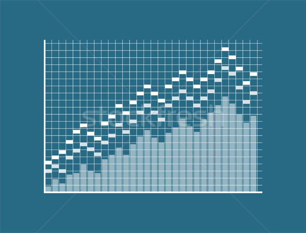 Diagram Template, Squred Display, Blue Backdrop Stock photo © robuart