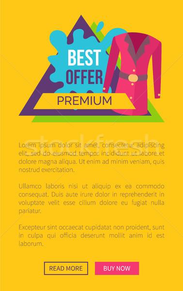 Best Offer for Premium Clothes Promotional Emblem Stock photo © robuart