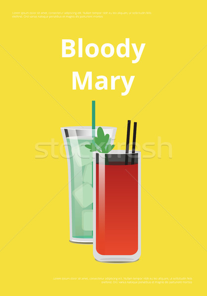 Bloody Mary Promo Poster with Tomatoe Cocktail Stock photo © robuart