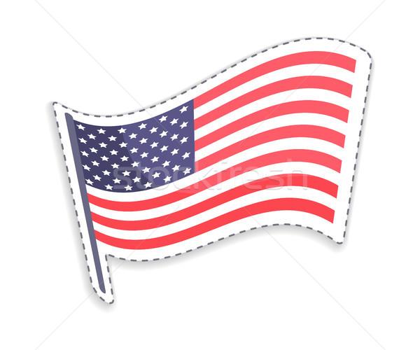 Eski şan kutup ABD bayrak ahşap Stok fotoğraf © robuart