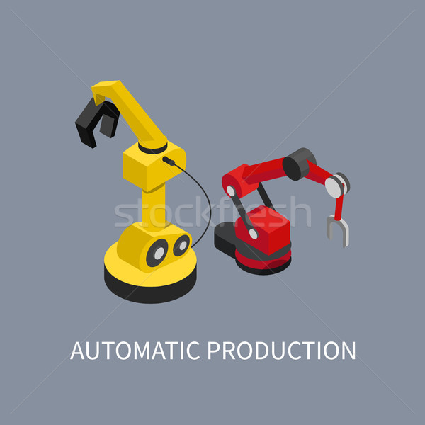 Automatic Production Abstract Factory Illustration Stock photo © robuart
