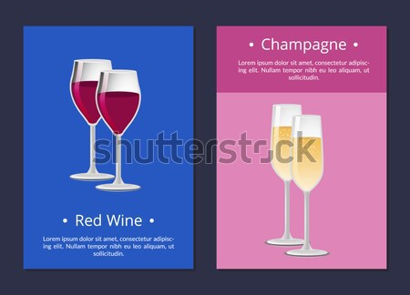 Summer Party Champagne Classical Luxury Alcohol Stock photo © robuart
