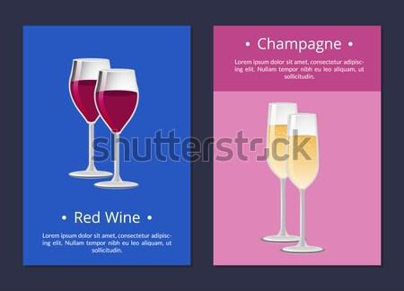 Estate party champagne classica lusso alcol Foto d'archivio © robuart